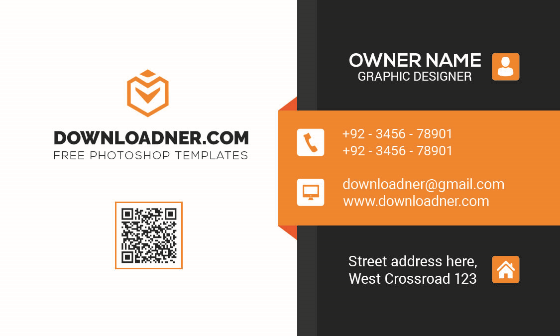 Professional Business Card Template Front