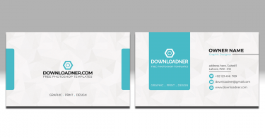 White and Blue Business Card PSD Templates