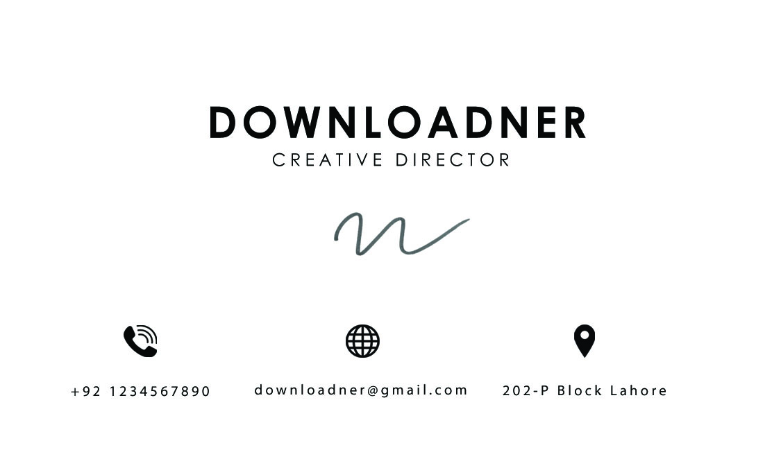 White and Black Professional Business Card