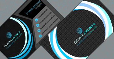 Black and Blue Business Card Cover image