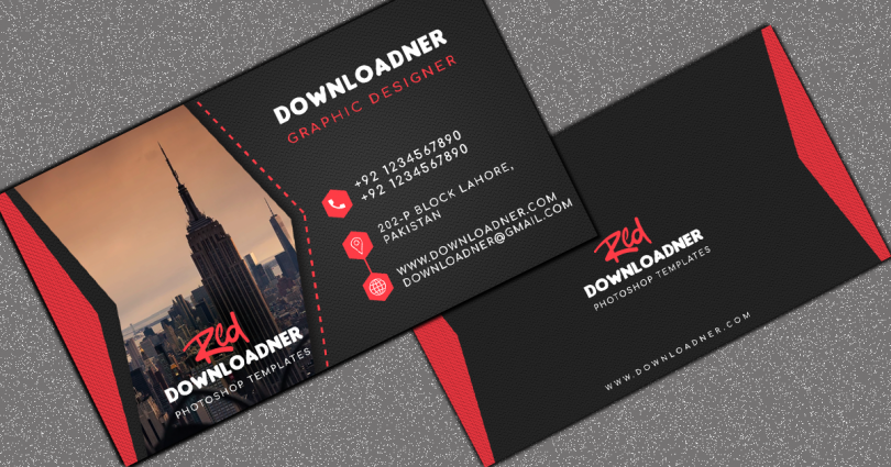 Black and Red Mock-Up Business Card Cover image