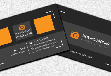 Black and White Business card PSD Template Cover Image