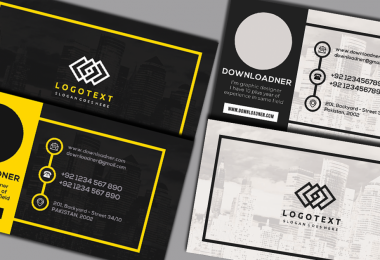 Black and Yellow Business Card Cover image