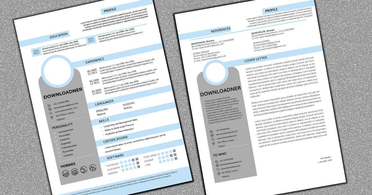 Blue and White CV Or Cover Letter featured image