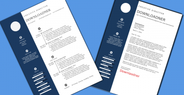 Blue and White Resume and Cover Imgae Design