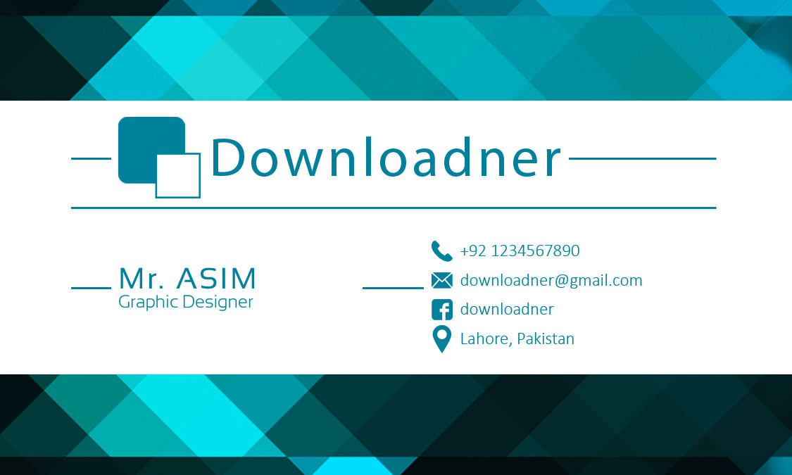 Business Card Front Side PSD