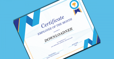 Certificate of an Employee cover Image designed By matloob ilyas