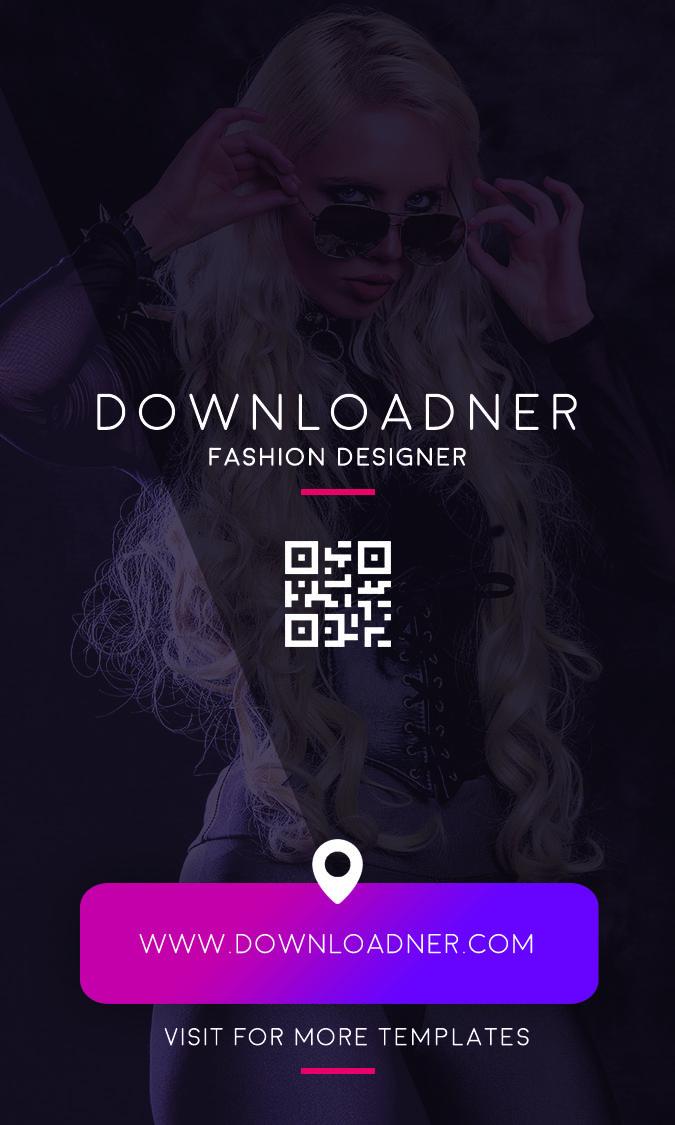 Fashion Designer Business Card Back