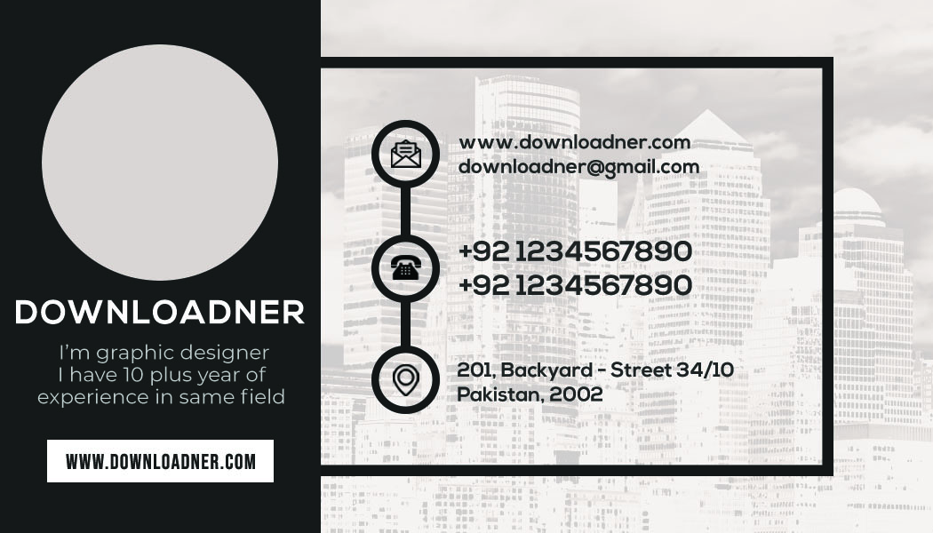 Graphic Designer Business Card Front Copy of Yellow and Black