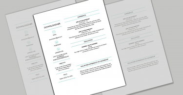 Resume and CV Template in MS Word DOCX
