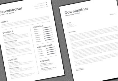 Simple White Resume and CV Cover image