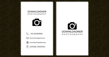 White Business card PSD Template Cover Image