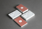 White Mock-Up Business card Design Cover Image