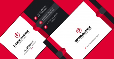 White, Red and Black Modern and Professional Business card Cover image