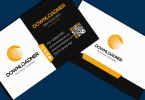 White, Black and Orange Business card