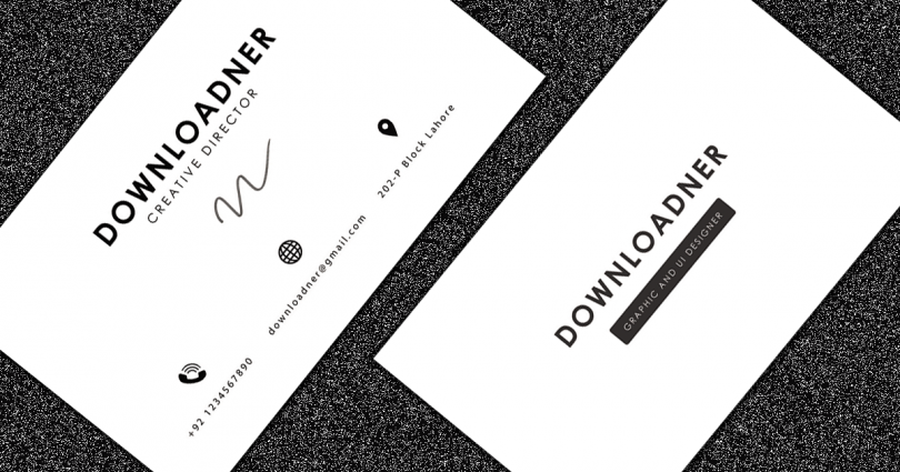 White and Black Professional Business Card Cover image
