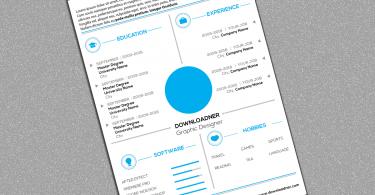 White and Blue CV Design Cover Image