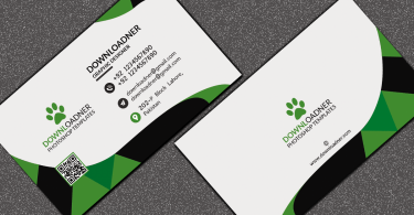 White and Green Business card Featured image