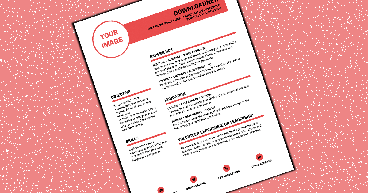 White and Red Cv Design Cover image