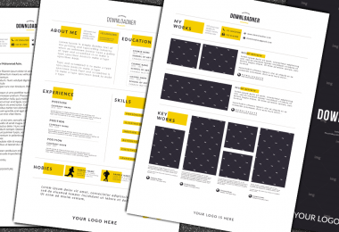 white and Yellow CV and Resume Cover Image