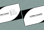 white and black business card cover image