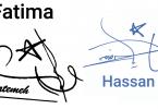 Handwritten signatures downloadner.com